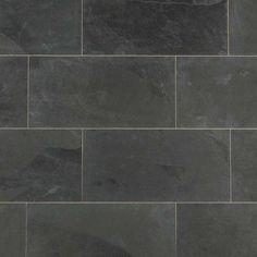 "Slate Tile - Montauk Black / 12""x24"" / Natural"