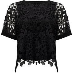Phase Eight Georgie Lace Front Blouse ($47) ❤ liked on Polyvore featuring tops, blouses, black, clearance, short-sleeve shirt, short sleeve shirts, floral short sleeve shirt, floral tops and lace up blouse
