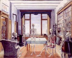 Waiting for the Liberation (Skeletons), Paul Delvaux, 1944, IMJ