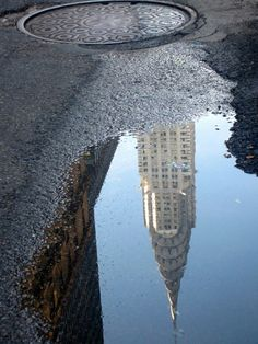 The Chrysler building in reflection.