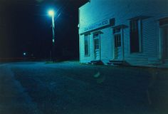 Untitled (J. Kelley and Co. at Night); William Eggleston (American, born about Chromogenic print; × cm × 19 in. William Eggleston, Night Time Photography, Color Photography, Street Photography, Classic Photography, Contemporary Photography, Landscape Photography, Nocturne, Neon Noir