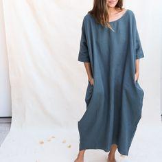 910a355e7a Rachel Craven   Long Cocoon Dress - Teal