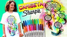 CAMISETAS Personalizadas con SHARPIES (II) Atrapasueños* DIY Sharpie Tie...