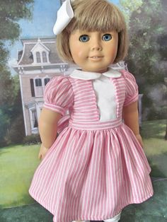 1950 Doll Dress Historical  Dress  Doll Dress   by fashioned4you
