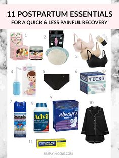 and baby hospital Postpartum Recovery Essentials - Simply Nicole Postpartum Essentials Kit Postpartum Must Haves, Postpartum Body, Postpartum Recovery, Postpartum Care, Pregnancy Must Haves, Post Pregnancy, Pregnancy Hospital Bag, Pregnancy Videos, Pregnancy Diary