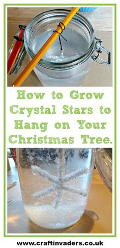 Growing Crystals is a really fun project to do at home, here we show you how we made our own Christmas stars to hang on our Christmas tree. The crystals form so quickly you only have to leave them overnight!