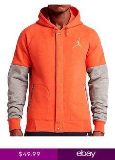 cac22266051643 Nike Mens Air Jordan THE VARSITY HOODIE OrangeHeather 689020-829 a