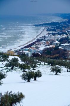 Winter Scene, our home town, Fossacesia, Italy