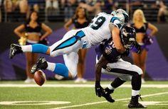carolina panthers kuechly   Carolina Panthers linebacker Luke Kuechly (59) forces a fumble from ...