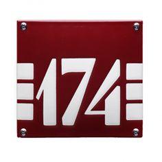 HE-57 emaille huisnummer 'ArtDeco'. Een mooi retro huisnummerbord in de stijl van de jaren 20 en jaren 30. Art Deco Typography, School Signs, House Numbers, Painted Signs, Chevrolet Logo, Bordeaux, Art Nouveau, Workshop, House Design