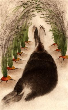 """La Cathédrale du Lapin (The Cathedral of the Rabbit) cc barton Reminds me of """"watership down"""" Art And Illustration, Illustrations, Rabbit Illustration, Lapin Art, Zoo 2, Rabbit Art, Rabbit Hole, Bunny Rabbit, Bunny Art"""