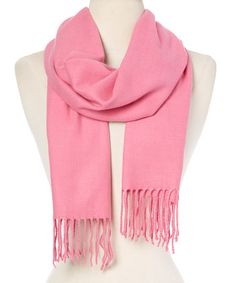 Another great find on #zulily! Bubble Gum Fringe Scarf #zulilyfinds