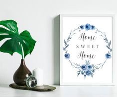 Home Sweet Home Sign, Home Sweet Home Printable, Printable Wall Art, house Decor, house Printable, Wall Decor, Sea Love Quotes, Types Of Printer, Home Signs, Printing Services, Printable Wall Art, Sweet Home, My Etsy Shop, Wall Decor, Printables