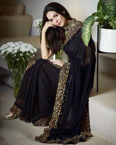 Sarees Online - Buy Latest collection of Fancy Sarees, Designer Sarees, Bollywood Sarees Online in India. Wide range of Saris for every occasion like wedding, festivals, sangeet. Pakistani Dresses, Indian Sarees, Indian Dresses, Georgette Saree Party Wear, Saree Dress, Georgette Fabric, Georgette Sarees, Saree Designs Party Wear, Saree Blouse Designs