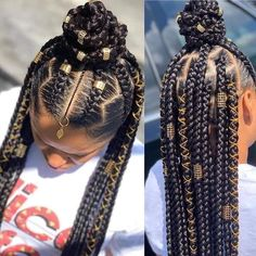Feed In Braids Hairstyles, Box Braids Hairstyles For Black Women, Braids Hairstyles Pictures, Cute Braided Hairstyles, Black Girl Braids, Braids For Black Hair, Baddie Hairstyles, Girls Braids, Girl Hairstyles