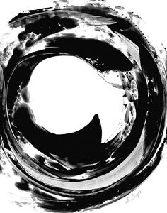Black and White Painting BW Abstract Art Artwork High Contrast Depth Black Magic 321 Minimalism Minimalist Modern Contemporary Cummings
