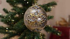 """Купить Новогодний шар - шкатулка """"Старинный"""" - Новый Год, новый год 2017, новогодние украшения"""