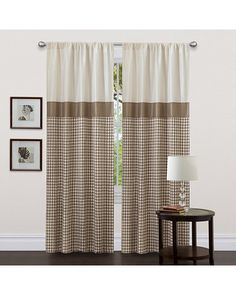 Lush Decor Taupe 84-inch Waldorf Curtain Panel -- $32.44-$36.04 -- at Overstock.com