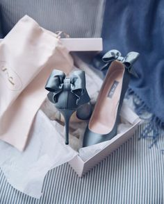 Shoe perfection #bows #somethingblue