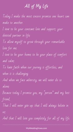 Read this - hearted by myweddingvows.com ♥