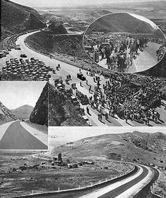 Opening of the Conejo Grade (U.S. 101) in Ventura County east of Camarillo, May 1, 1937
