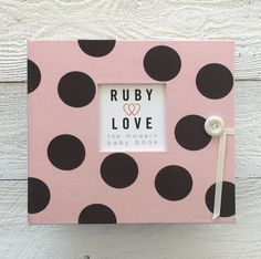 Pink and Brown Large Polka Dot Baby Memory Book - Ruby Love – Ruby Love Baby Polka Dot Nursery, Baby Memories, Stylish Baby, Memory Books, Little Ones, Polka Dots, Love, Brown, Pink
