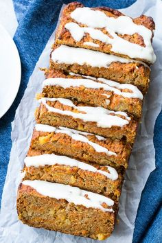 Pineapple Carrot Cake Bread {Paleo & Nut Free} this soft and moist carrot bread is just as healthy as it is delicious!  Gluten free, dairy free, nut free, paleo and great for brunches, snacks, and even dessert!   The Paleo Running Momma: