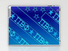 Pi Beta Phi, all Blue Laptop & iPad Skin by seb mcnulty - $25.00