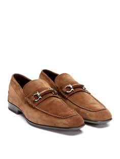Salvatore Ferragamo Cantino Suede Loafers