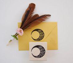 Moon Return Address Stamp by nativebear on Etsy