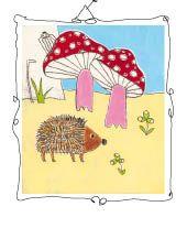 hedgehog and mushrooms Hedgehog, Stuffed Mushrooms, Mixed Media, Illustration, Painting, Painting Art, Stuff Mushrooms, Illustrations, Hedgehogs
