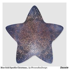 Shop Blue Gold Sparkle Christmas Holiday Star Sticker created by PhrosneRasDesign. Star Stickers, Custom Stickers, Christmas Holidays, Christmas Cards, Gold Sparkle, Different Shapes, Blue Gold, Activities For Kids, Stationery