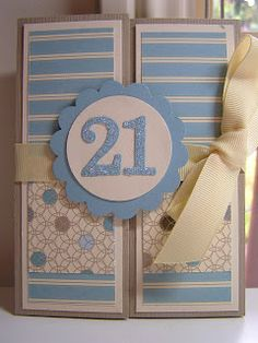 Stamping Passion: Birthday Card - Double Z Fold Card Cricut Birthday Cards, Creative Birthday Cards, Daughter Birthday Cards, Special Birthday Cards, 21st Birthday Cards, Cricut Cards, Handmade Birthday Cards, Creative Cards, Handmade Cards