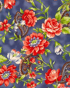 eQuilter Heart & Home - Floral Dreams - Denim