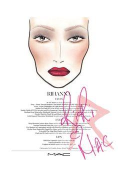 MAC Cosmetics Creates Rihanna's Tour Make-Up Beauty Look - RiRI Hearts MAC (Vogue.com UK)