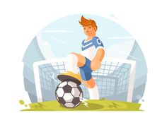 Football player by Anton Fritsler (kit8)