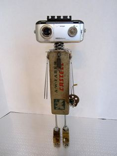 LG Faber Bot found object robot sculpture assemblage by ckudja, $100.00