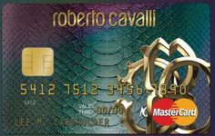Snakeskin Credit Cards - Roberto Cavalli Makes Charge Cards Dangerously Fashionable (GALLERY)