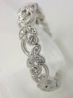 Floral and Diamond Wedding Ring, RG-1715