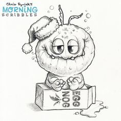 Too much Egg Nog?  #morningscribbles #christmas2016❄️