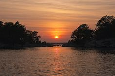 Sunset over the Thimble Islands, Branford, CT