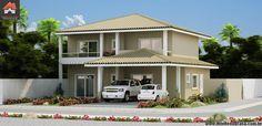 Planta de Sobrado - 4 Quartos - 213.32m² - Monte Sua Casa