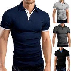 Mens V-neck Stand Collar Golf Shirts Short Sleeve Polo Shirts – widezee Casual T Shirts, Men Casual, Henley Shirts, Short Sleeve Polo Shirts, Golf Shirts, Mens Fashion, Fashion Shoes, Sleeves, Mens Tops