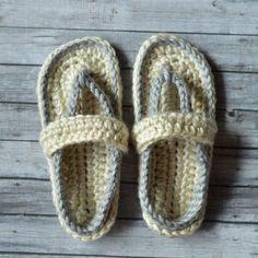 Women's Crochet Flip-Flops Slippers