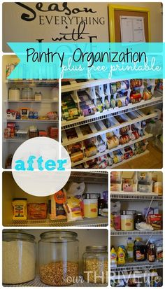{Guest Post} Pantry Organization by Our Thrive Life - While He Was Napping