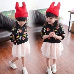 Little Goldfish - Kids Floral Mesh Panel Dress