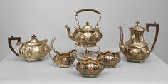 English Victorian accessories tea/coffee set silver-plate