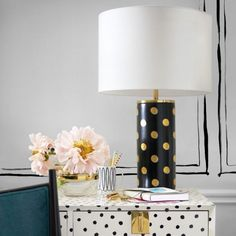This list of our favourite table lamps includes a couple from Kate Spade's new collection, like the elegant yet bold one in the photo shown!