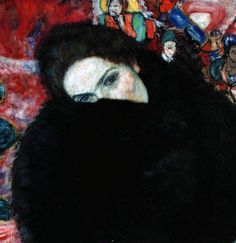 Lady with Muff, Gustav Klimt - 1916