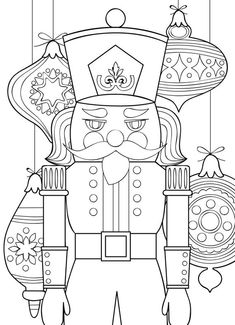2 Printable Coloring Pages Zentangle Coloring Book Nutcracker Disney Coloring Pages, Coloring Book Pages, Printable Coloring Pages, Coloring Pages For Kids, Grinch Coloring Pages, Nutcracker Decor, Nutcracker Christmas, Christmas Colors, Christmas Crafts